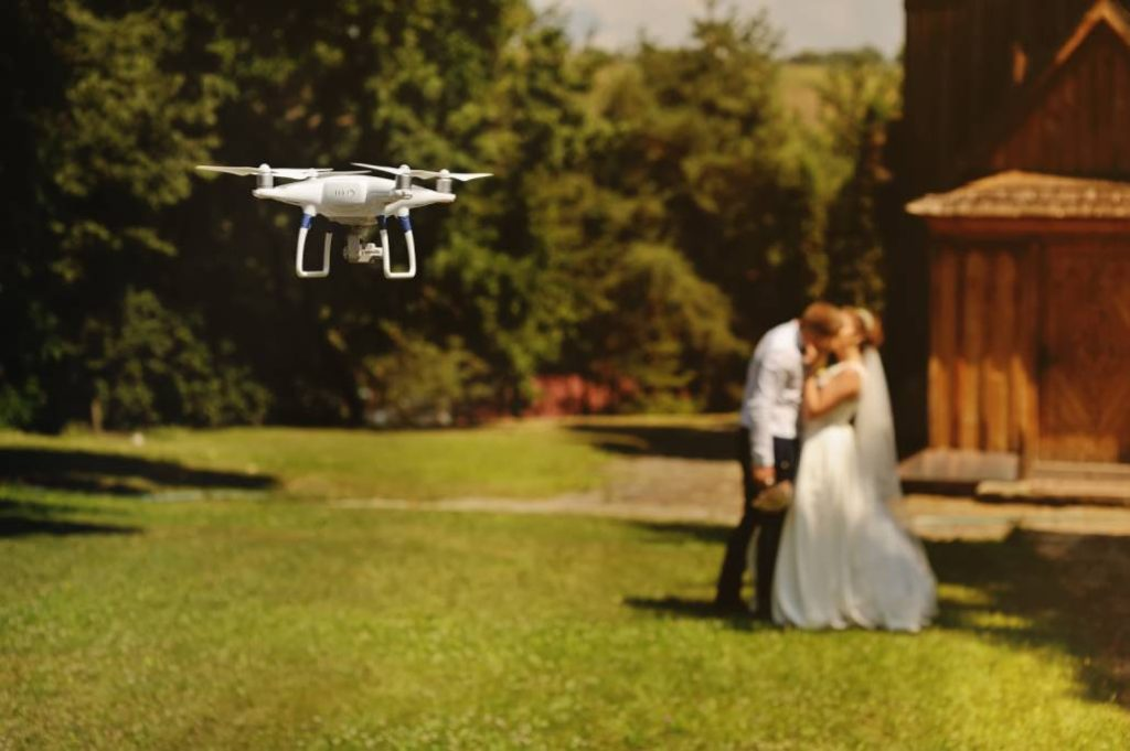 Bride and Groom Drone Video